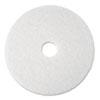 "Super Polish Floor Pad 4100, 19"", White, 5/Carton"
