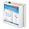 "FreeStand Easy Open Locking Slant-D Ring Binder, 4"" Cap, 11 x 8 1/2, White"