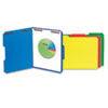 Deluxe Reinforced Top Tab Folders with Two Fasteners, 1/3-Cut Tabs, Letter Size, Blue, 50/Box