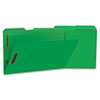 Deluxe Reinforced Top Tab Folders with Two Fasteners, 1/3-Cut Tabs, Legal Size, Green, 50/Box