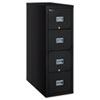 Patriot Insulated Four-Drawer Fire File, 20-3/4w x 31-5/8d x 52-3/4h, Black