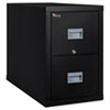Patriot Insulated Two-Drawer Fire File, 17-3/4w x 31-5/8d x 27-3/4h, Black