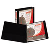 Speedy Spine™ Time Saving/Easy Spine Label Inserting 3 Ring View Binder, 1 Inch Round Ring, Customizable Clear View Cover, Black
