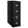 Patriot Insulated Four-Drawer Fire File, 17-3/4w x 31-5/8d x 52-3/4h, Black