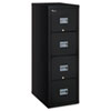 Patriot Insulated Four-Drawer Fire File, 17-3/4w x 25d x 52-3/4h, Black