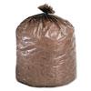 Eco-Degradable Plastic Trash Bag, 20-30gal, .8mil, 30 x 36, Brown, 60/Box