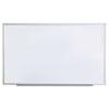 Dry Erase Board, Melamine, 60 x 36, Satin-Finished Aluminum Frame