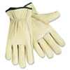 Economy Leather Drivers Gloves, White, Large