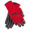 Ninja Flex Latex-Coated-Palm Gloves, Nylon Shell, Large, Red/Gray