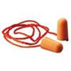 Foam Single-Use Earplugs, Corded, 29NRR, Orange, 100 Pairs