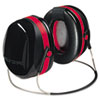 E·A·R Peltor OPTIME 105 Behind-The-Head Earmuffs, 29NRR, Red/Black