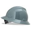 V-Gard Hard Hats, Fas-Trac Ratchet Suspension, Size 6 1/2 - 8, Gray