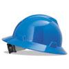 V-Gard Hard Hats, Fas-Trac Ratchet Suspension, Size 6 1/2 - 8, Blue