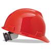 V-Gard Hard Hats, Fas-Trac Ratchet Suspension, Size 6 1/2 - 8, Red