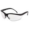Klondike Safety Glasses, Matte Black Frame, Clear Lens