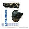 "Low-Density Waste Can Liners, 10 gal, 0.35 mil, 24"" x 23"", Black, 500/Carton"