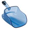 Hand-Guard Scoop, 74oz, Transparent Blue