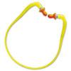QB1HYG Banded Multi-Use Earplugs, 27NRR, Yellow Band/Orange Plug, 10/Box