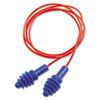 DPAS-30R AirSoft Multiple-Use Earplugs, 27NRR, Red Polycord, Blue, 100 Pairs