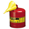 Safety Can, Type I, 5gal, Red, With Funnel
