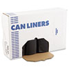 "Low Density Repro Can Liners, 60 gal, 1.6 mil, 38"" x 58"", Black, 100/Carton"