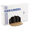 "Low-Density Waste Can Liners, 56 gal, 0.6 mil, 43"" x 47"", Black, 100/Carton"