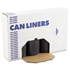 "Low Density Repro Can Liners, 45 gal, 1.2 mil, 40"" x 46"", Black, 100/Carton"