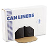 "Low Density Repro Can Liners, 56 gal, 1.2 mil, 43"" x 47"", Black, 100/Carton"