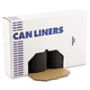 "Low Density Repro Can Liners, 60 gal, 1.2 mil, 38"" x 58"", Black, 100/Carton"