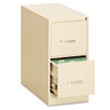 Two-Drawer Economy Vertical File, 15w x 26-1/2d x 29h, Putty