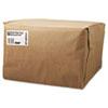 1/6 52# Paper Bag, 52lb Kraft, Brown, 12 x 7 x 17, 500/Bundle