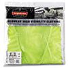 GloWear 8210Z Class 2 Economy Vest, Polyester Mesh, Zipper Closure, Lime, 2L/3XL