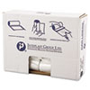 High-Density Can Liner, 24 x 31, 16gal, 8mic, Clear, 50/Roll, 20 Rolls/Carton