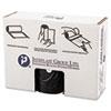 High-Density Can Liner, 38 x 58, 60gal, 22mic, Black, 25/Roll, 6 Rolls/Carton