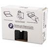 High-Density Can Liner, 40 x 48, 45gal, 22mic, Black, 25/Roll, 6 Rolls/Carton