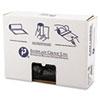 High-Density Can Liner, 24 x 33, 16gal, 8mic, Black, 50/Roll, 20 Rolls/Carton