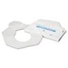 Health Gards Toilet Seat Covers, Half-Fold, White, 250/PK, 10 PK/CT