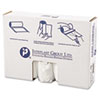 High-Density Can Liner, 40 x 48, 45gal, 12mic, Clear, 25/Roll, 10 Rolls/Carton