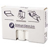 High-Density Can Liner, 33 x 40, 33gal, 16mic, Clear, 25/Roll, 10 Rolls/Carton