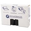 High-Density Can Liner, 33 x 40, 33gal, 16mic, Black, 25/Roll, 10 Rolls/Carton