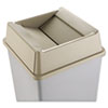 Untouchable Square Swing Top Lid, Plastic, 20 1/8 x 20 1/8 x 6 1/4, Beige