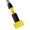 Gripper Aluminum Mop Handle, 1 1/8 dia x 60, Gray/Yellow