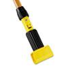 Gripper Hardwood Mop Handle, 1 1/8 dia x 60, Natural/Yellow