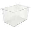 "Clear Tote Boxes, 21 1/2 Gallon, 26""W x 18""D x 15""H"