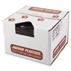 "Repro Low-Density Can Liners, 56 gal, 2 mil, 43"" x 47"", Black, 100/Carton"