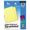 Preprinted Dividers, Copper Reinforced, 25-Tab Set, A-Z