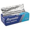 "Interfolded Aluminum Foil Sheets, 12"" x 10 3/4"", Silver, 500/BX, 6 BX/CT"