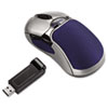 Optical HD Precision Cordless Gel Mouse, Five-Button/Scroll, Blue/Sliver