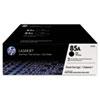 85A (CE285D) Toner Cartridges - Black (2 pack)