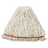 Web Foot Wet Mop Head, Shrinkless, Cotton/Synthetic, White, Large, 6/CT